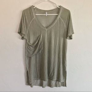 Z Supply Olive Green Oversized Pocket Tee Shirt S